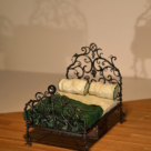 1:25 wrought iron bed