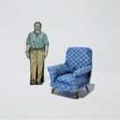 Blue Armchair Model