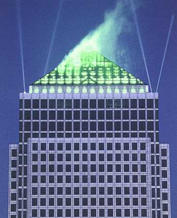 Christmas 1997 Light Up for One Canada Square