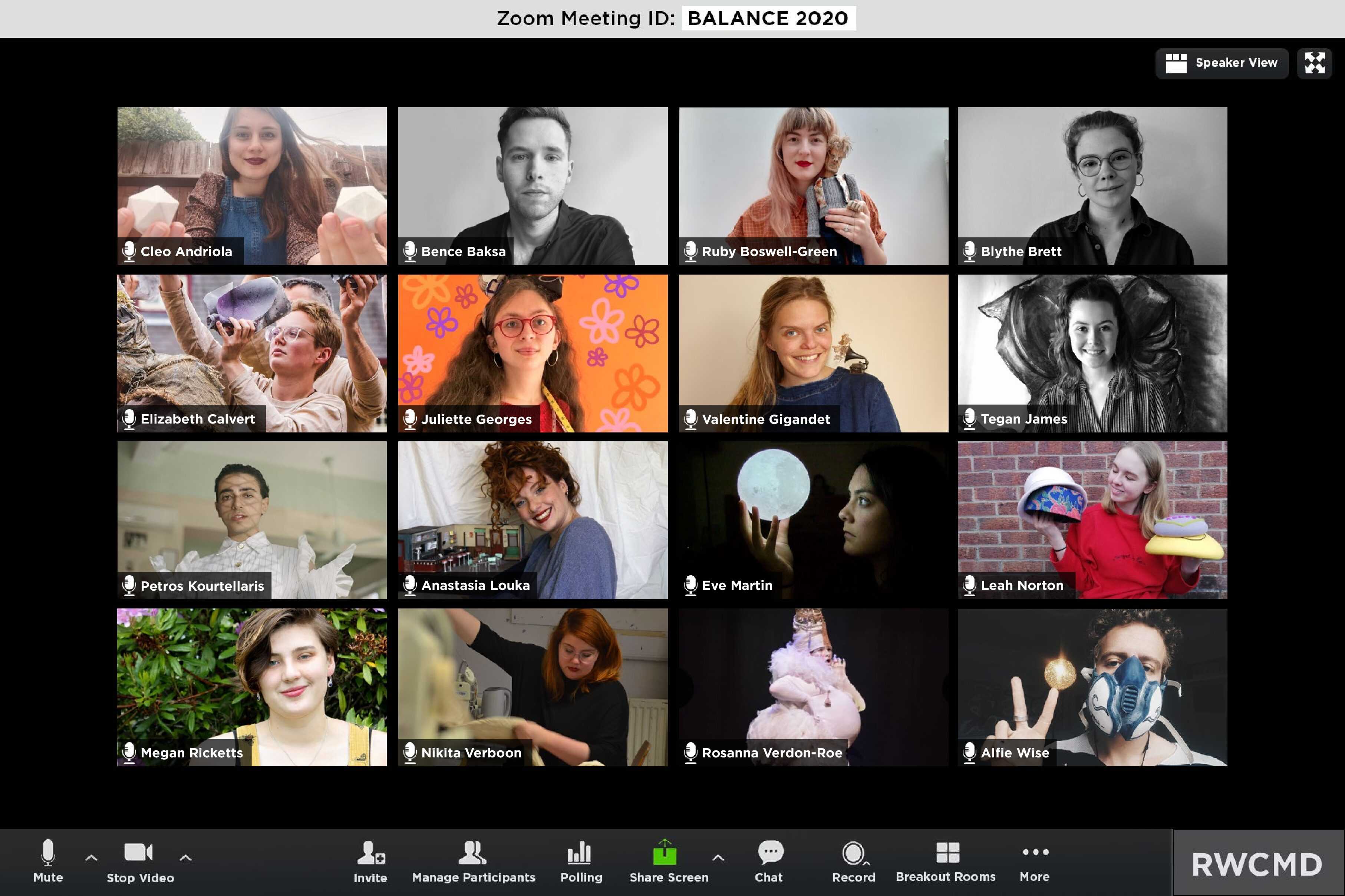 Balance – RWCMD New Graduates 2020